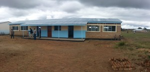 The new building contains two classrooms and a teachers office.