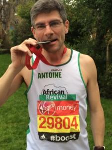 Antoine London Marathon 2015