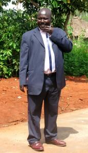 Cubu headteacher showing us round school