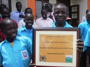 pupils with the plaque