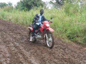Patrick Ocaka on Motorbike