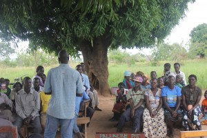 Farmers meeting at Palukere Primary School