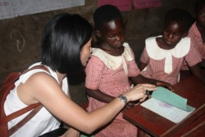 Colleen with K2 pupils