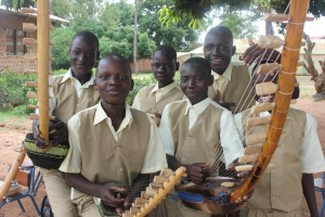 Anaka P7- boys with their instruments