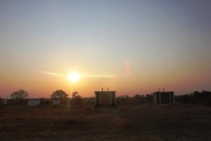 Sunset and latrines!