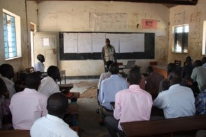 14 July meeting Francis +headteacher + pupils club teacher + subcounty officials +chairmen of SDG in Agago